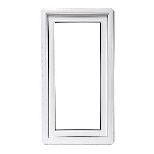 Fenêtre  à battant blanche fixe 1 ¼ MB intégré 24 po x 48 po avec Vertex3 et Energy Star