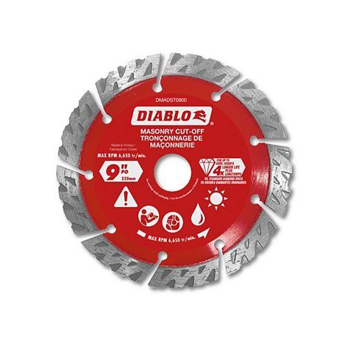 9 in. Diamond Segmented Turbo Cut-Off Discs for Masonry