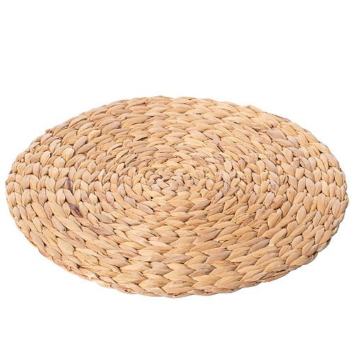 15 inch Decorative Weave Water Hyacinth Round Mat Charger Plates for Dining Table