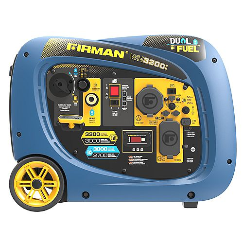 3300/3000W Recoil Start Dual Fuel Inverter Portable Generator Parallel Ready cETL Certified