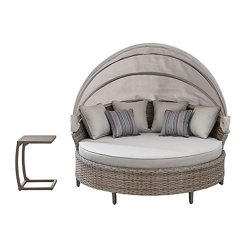 Bottega Outdoor 4 PC Daybed in Light Brown