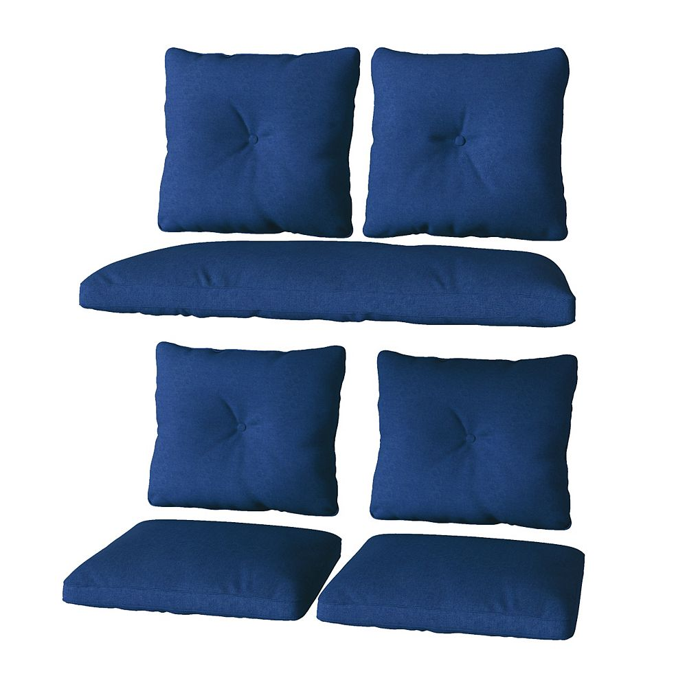Corliving CorLiving 7pc Replacement Navy Cushion Set