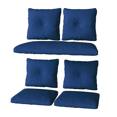 CorLiving 7pc Replacement Navy Cushion Set