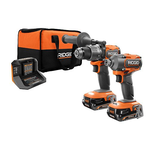 18V Brushless 1/2-inch Drill & Impact Driver with (2) 2.0 Ah MAX Output Batteries and Charger