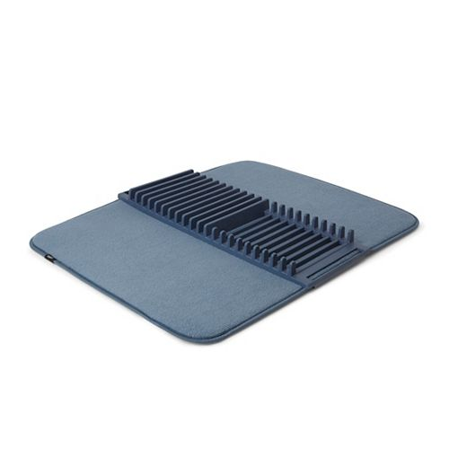 UDRY - Tapis Égouttoir à Vaisselle en Microfibre Bleu 61x46cm