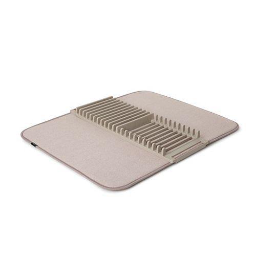 UDRY - Tapis Égouttoir à Vaisselle en Microfibre Beige 61x46cm