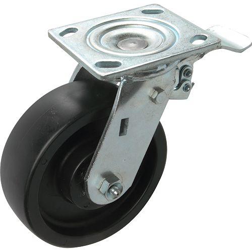 63 inch Designer Caster Chrome Spokes Soft Rubber Tread, 4 per box