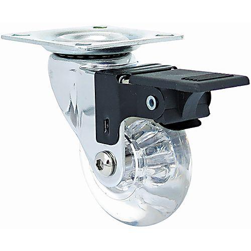 11 inch Designer Caster Chrome Spokes Soft Rubber Tread, 4 per box