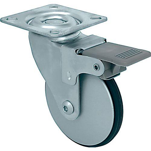 12 inch Designer Caster Chrome Spokes Soft Rubber Tread, 4 per box