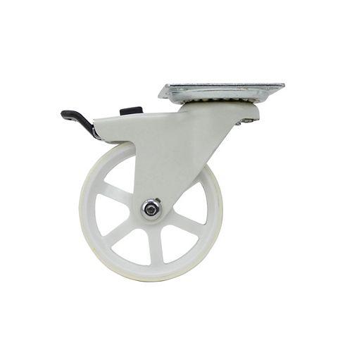 34 inch Designer Caster Chrome Spokes Soft Rubber Tread, 4 per box