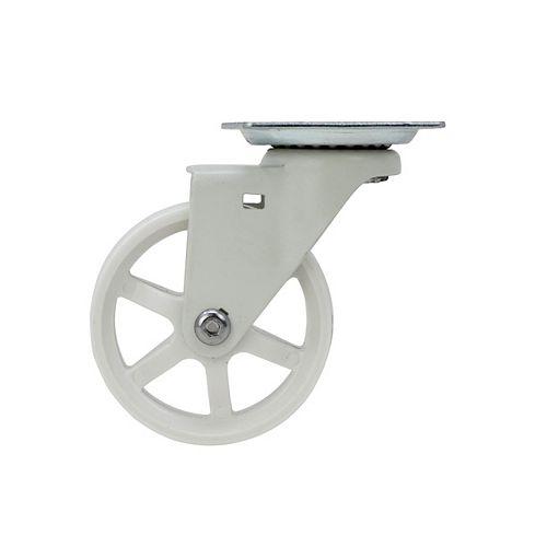 31 inch Designer Caster Chrome Spokes Soft Rubber Tread, 4 per box