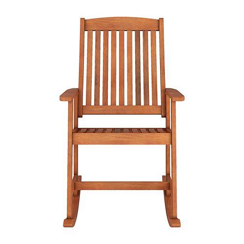 CorLiving Miramar Natural Hardwood Outdoor Rocking Chair
