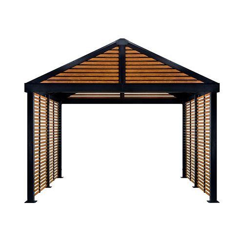 Boda 12 ft. X 12 ft. Sun Shelter in Wood finish