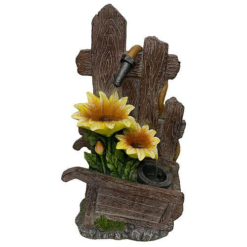 Fontaine chariot de fleurs, comprend une pompe écoénergétique