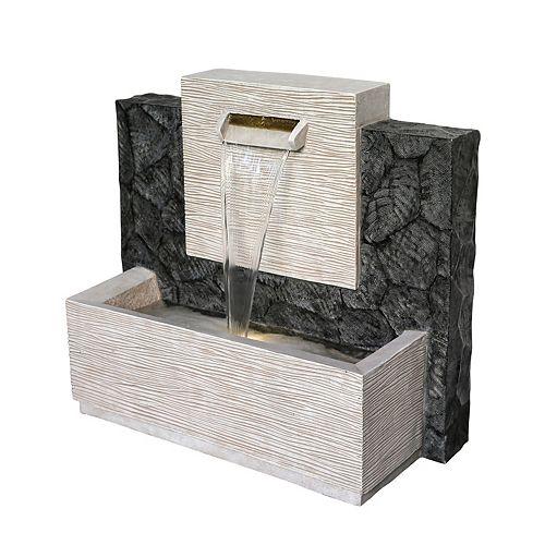 Fontaine Meso grande de 71 cm, comprend une pompe écoénergétique et lumières DEL décoratives