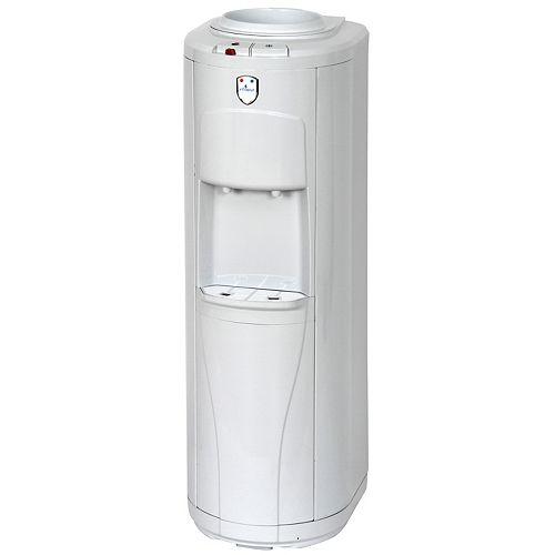 Distributeur deau autoportant à chargement par le haut (chaude et froide), blanc