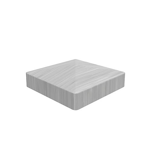 5x5 inch Grey Vinyl Fence  Pyramid post top