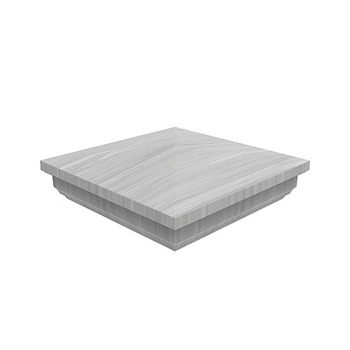 5x5 inch Grey Vinyl Fence  New England post top