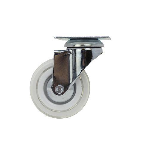 58 inch Designer Caster Chrome Spokes Soft Rubber Tread, 4 per box