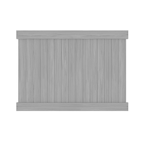 6X8 5.5 inch Grey Vinyl Fence Privacy Panel