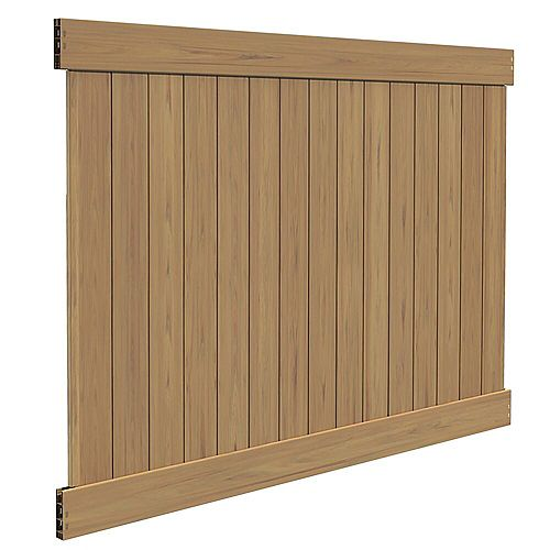 6X8 5.5 inch Cypress Vinyl Fence Privacy Panel
