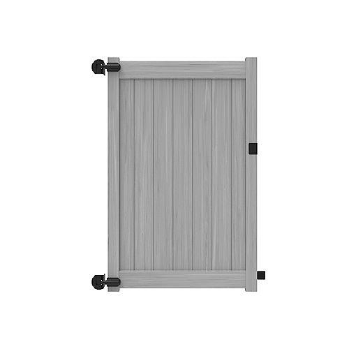 Barrière intimité 6X46'' avec traverses de 5.5'' pour clôture de vinyle gris