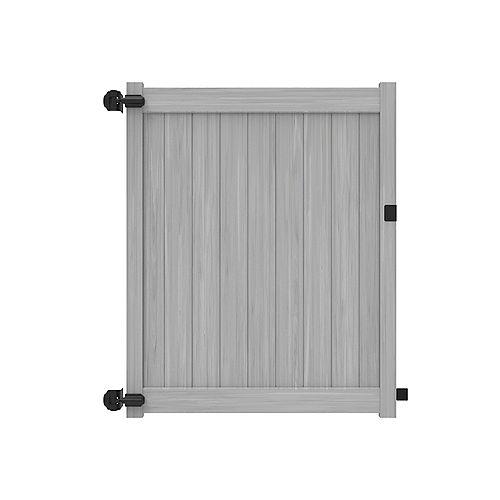 Barrière intimité 6X58'' avec traverses de 5.5'' pour clôture de vinyle gris