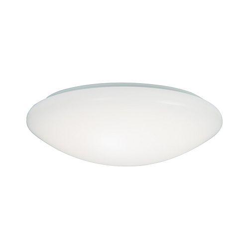 Plafonnier carré à DEL intégrées blanc de 11 po avec choix de couleurs de température