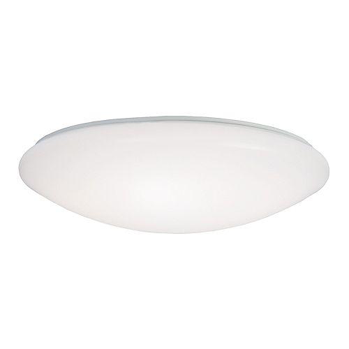 Plafonnier rond à DEL intégrées blanc avec choix de couleur de température 3000K-5000K