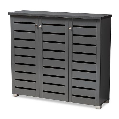 Adalwin 8-Shelf Shoe Cabinet in Dark Gray