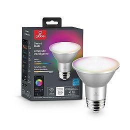 Wi-Fi Smart 6.5W (50W Equivalent) PAR20 E26 RGB Tunable White LED Light Bulb, No Hub Required