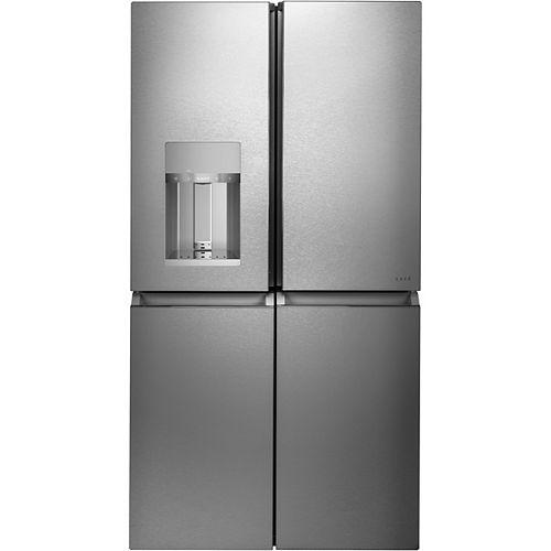27.4 pi³ réfrigérateur à quatre portes en verre moderne