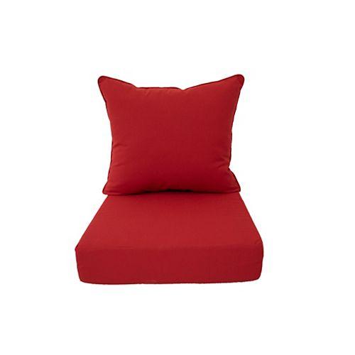 Sunbrella Deep Seating Cushion Red