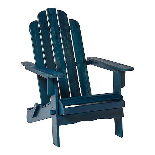 Patio Wood Adirondack Chair - Navy Blue Wash