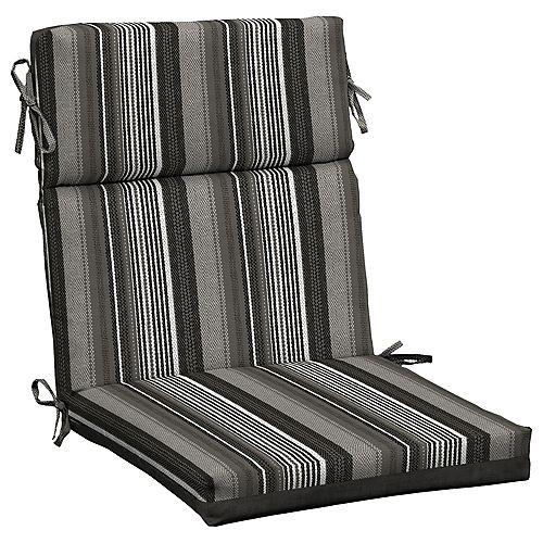 Multi Stripe High Back Dining Chair Cushion