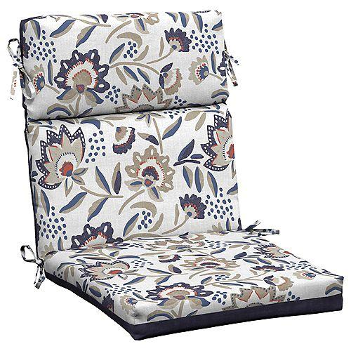 Flowal show High Back Dining Chair Cushion