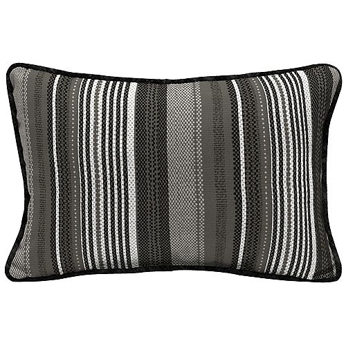 Multi Stripe Lumbar Throw Pillow