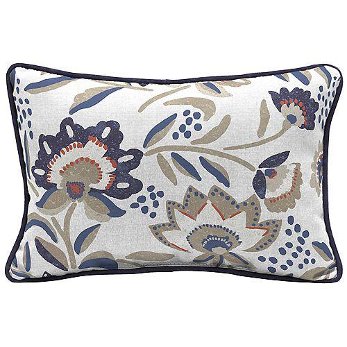 Flowal show Lumbar Throw Pillow