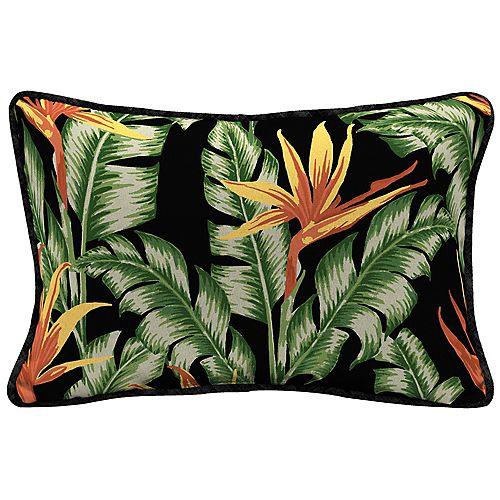 Coussin lombaire décoratif à Motif tropical Destin