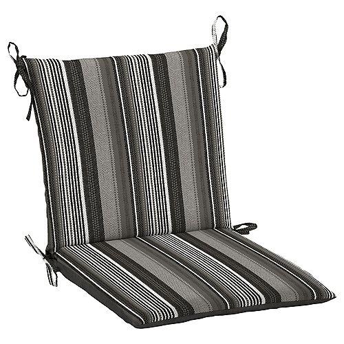 Multi Stripe Mid Back Dining Chair Cushion