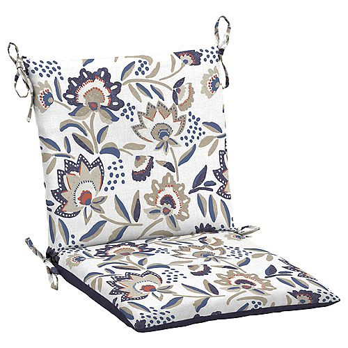 Flowal show Mid Back Dining Chair Cushion