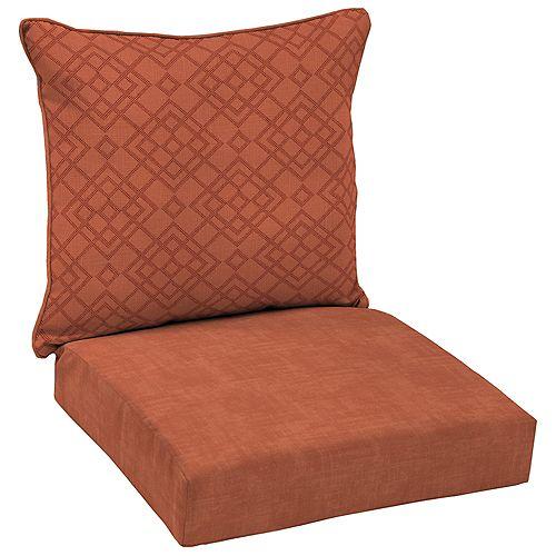 Sienna 2-Piece Deep Seating Lounge Chair Cushion