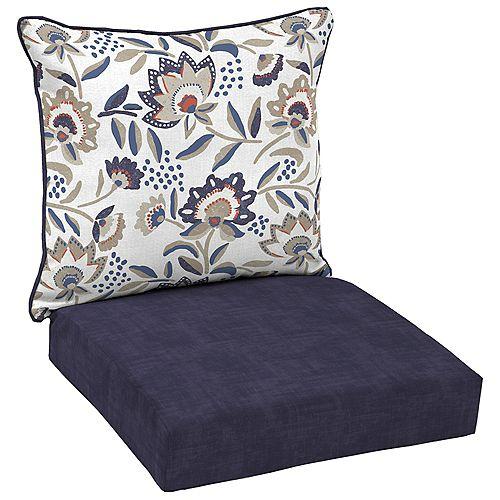 Flowal show 2-Piece Deep Seating Lounge Chair Cushion