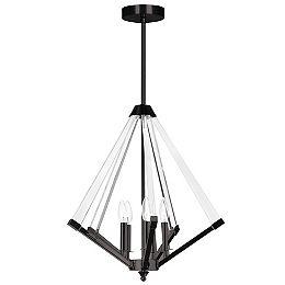 Aalto 5 Light Matte Black Incandescent Chandelier