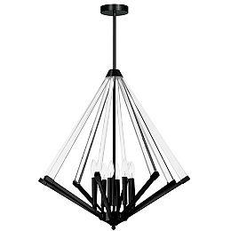 Aalto 8 Light Matte Black Incandescent Chandelier
