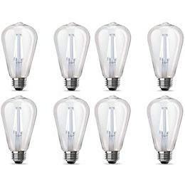 60W Equivalent Daylight ST19 Clear Filament LED Light Bulb (2-Pack)