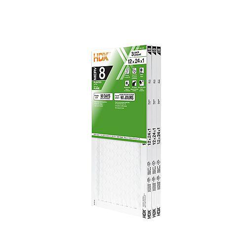 12-inch x 24-inch x 1-inch MERV 8 Air Filter 12 Pack