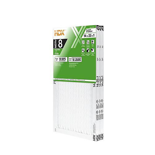 14-inch x 25-inch x 1-inch MERV 8 Air Filter 12 Pack