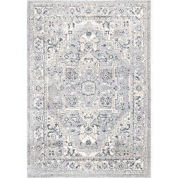 Transitional Medallion Gena Light Grey 8 ft. x 10 ft. Indoor Area Rug