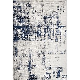Madalynn Modern Abstract Silver 9 ft. x 12 ft. Indoor Area Rug